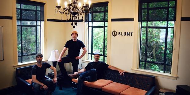 Blunt founders Josh Page, Scott Kington and Greig Brebner.