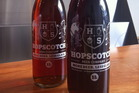 The Parrot Dog BloodHound Red Ale and Croucher's Low Rider I.P.A, both available at the Hopscotch Beer Company.
