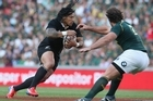 The All Blacks have defended their Rugby Championship title with a victory over the Springboks at Ellis Park this morning in a pulsating test which featured several moments of controversy.