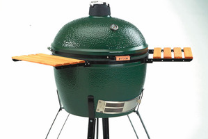 Big Green Egg Barbeque. Photo / Supplied.