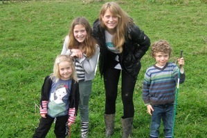 Au pair Pia Helzel with her charges, Lucy, Ella and Max Jacobson. Lucy was hard to win over at first.