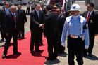John Key arriving in Bali,Indonesia, for the APEC meeting.