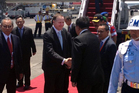 John Key arriving in bali Indonesia.