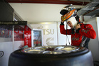 Scott McLaughlin driver of the #33 Fujitsu Racing GRM Holden prepares for practice for the Perth 360.