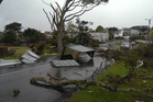 Wind damage in Devonport. Photo / Richard Moore