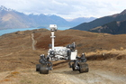 Replica of the Mars rover Curiosity, part of a Qantas promotion that is being wheeled out around NZ.