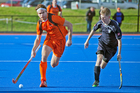 Black Sticks defender Andy Hayward, in action for Midlands against Auckland in the National Hockey League.