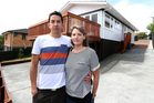 Darren Meredith and Imogen Haines saved and scrimped to buy this Glen Eden house, but were outbid at an auction by a property investor. Photo / Jason Oxenham