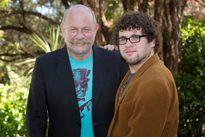 Mark Sainsbury with his diabetic son, Hunter. Photo / Marty Melville