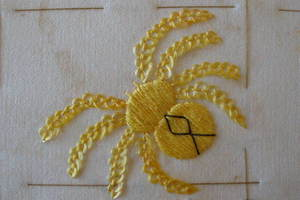 Jo stitched spiders for the 100 Days Project.
