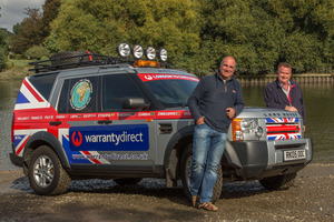 Endurance rally drivers Robert Belcher (58) and Stephen Cooper (53) are attempting to drive from London to Cape Town in under 10 days - a mighty distance of more than 16,000km.