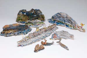 'Himalaya Serves the World 1949-Early 70s', by Robert Rapson, winner of the 2013 Portage Ceramic Award.