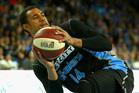 Mika Vukona passes during the match between the New Zealand Breakers and the Wollongong Hawks. Photo / Getty Images