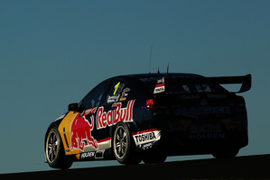 Jamie Whincup on his way to his first pole position at Mount Panorama. Photo / Getty Images