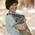 Judy Bailey has a close encounter with a Koala. Photo / Greg Bowker
