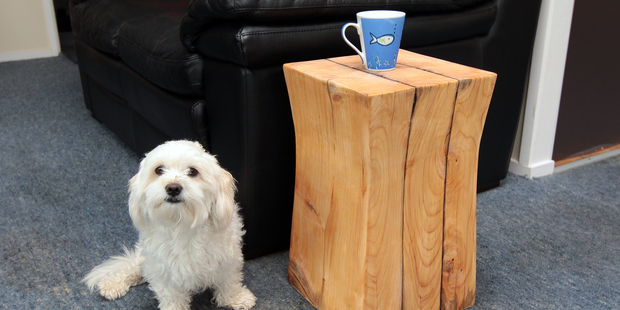 DIY step by step how to build a rustic table finished table. Photo / Doug Sherring