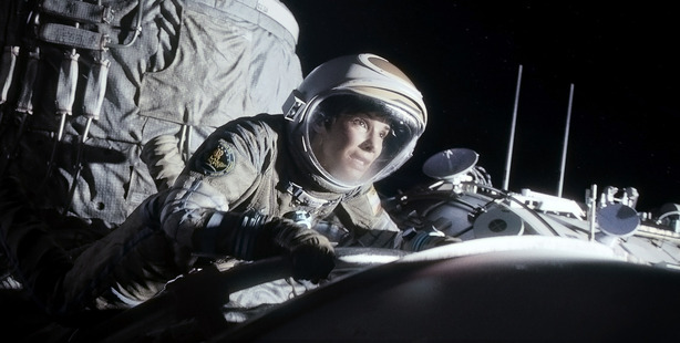 Sandra Bullock delivers a riveting performance as astronaut Ryan Stone in Gravity.