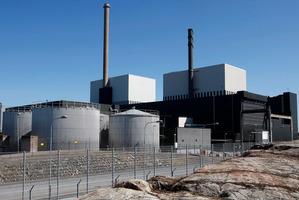 Oskarshamn nuclear power plant in Oskarshamn, southeastern Sweden.  Photo / AP
