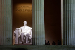 The Lincoln Memorial. Photo / AP