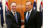 Prime Minister John Key (left) and his Australian counterpart, Tony Abbott, met for talks last week. Photo / AP