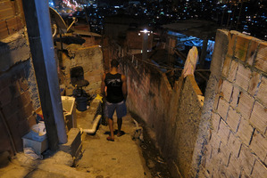 Anderson de Souza near his home in the Rocinha slum, in Rio de Janeiro, Brazil. De Souza's father disappeared in July after last being seen in police custody. Photo / AP