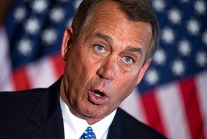Speaker of the House Rep. John Boehner. Photo / AP