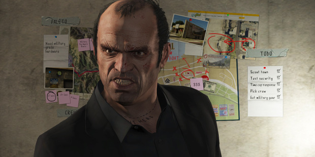 A shot from the video game, 'Grand Theft Auto V'. Photo / AP