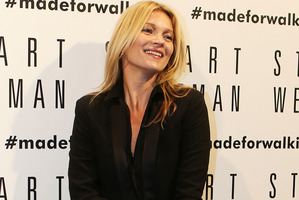 Kate Moss has begun the the design process for her new Topshop line. Photo / AP