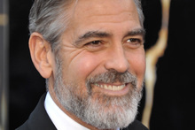 George Clooney is famous for his silver beard.Photo / AP