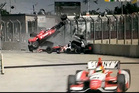 Dario Franchitti's terrible crash IndyCar 2013 Grand Prix of Houston.