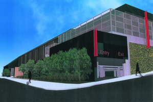 An artist's impression of the back of the proposed Bunnings Warehouse Grey Lynn.
