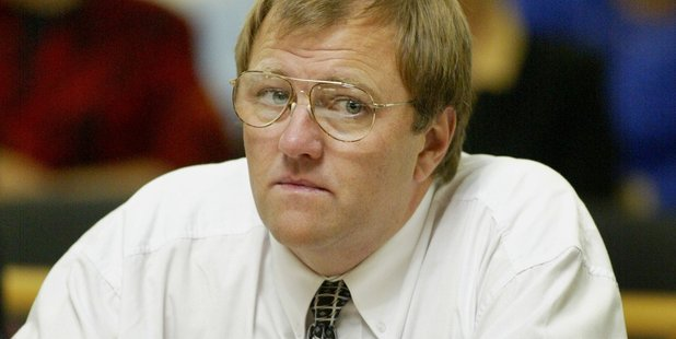 Mark Lundy during his murder trial at the Palmerston North High Court in 2002. File photo / Mark Mitchell