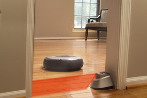 The Roomba vacuum cleaner by iRobot.