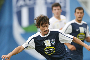 Albert Riera in action for Auckland FC. Photo / Greg Bowker