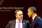 John Key, pictured here with Barack Obama in Seoul in March, was thanked by the US President for