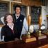 Ashley Huntington and wife Jane at the Farm Bar. Two Metre Tall Brewery. Photo / Christine Cornege