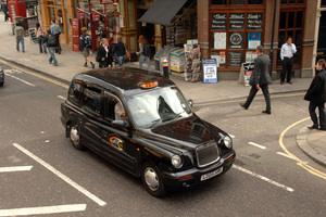 A famous black cab in London. Photo / NZPA