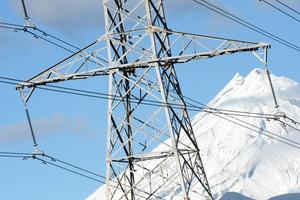 Power pylons, Mt Taranaki, New Plymouth, New Zealand, Wednesday, June 09, 2010. Credit:NZPA / Ross Setford