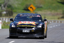 Defending champ Tony Quinn and co-driver Naomi Tillett driving the VIP Petfoods Nissan GT-R35