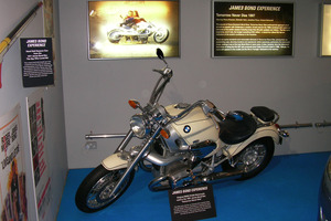 The BMW R1200 motorbike that has some of that Bond cachet.