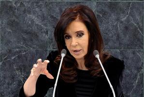 Cristina Fernandez, President of Argentina. Photo / AP