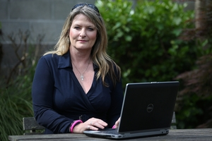 PARENTAL WARNING: Yvonne McLean, public health promoter for problem gambling at the Salvation Army Tauranga, warns young people can be led into addiction through free online gambling games.PHOTO/JOEL FORD