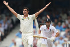 Australia's Mitchell Starc appeals for a wicket in the recent Ashes series. Photo / Getty Images