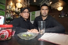 SHOCKED: Saj Kaintura (left), Spices of India owner, and Mandeep Shandhu, duty manager, couldn't believe the brazen actions of a young girl who walked in and snatched the tip jar, which held about $200. PHOTO/LYNDA FERINGA