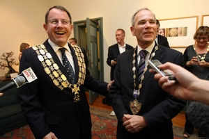 The slug-out between mayoral candidates John Banks (left) and Len Brown helped to lift the voter turnout in 2010.  Photo / Dean Purcell