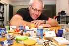 SWAPSIES: Ivan Birch with some of the miniatures available for swapping tomorrow.