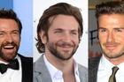 Hugh Jackman, Bradley Cooper and David Beckham are all facial hair fans.Photo / AP