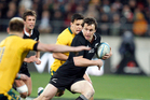 Ben Smith in action against the Wallabies in Wellington. Photo /  Mark Mitchell