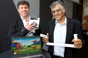 IM-Able executives Elliott Kernohan (left) and Sunil Vather. Photo / Mark Mitchell