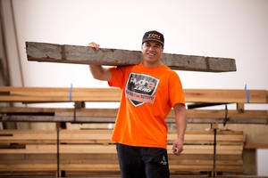 Afa Tatupu credits his work in a Kumeu timber yard for his fitness and for keeping him steady. Photo / Dean Purcell